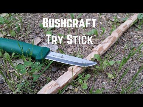 Bushcraft TRY STICK: Esercizi di intaglio con il coltello (con Hultafors Heavy Duty GK)
