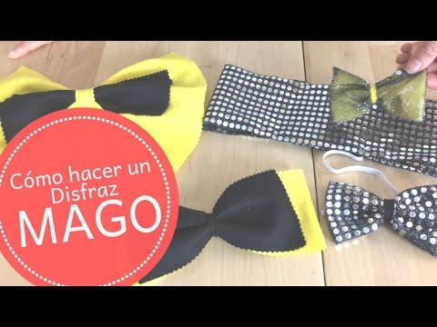 Disfraz de mago: Corbata pajarita y fajín