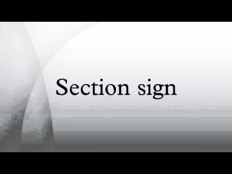 Section sign