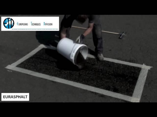 EURASPHALT Noir - Rénovation et traitement de micro fissures sur béton et enrobé