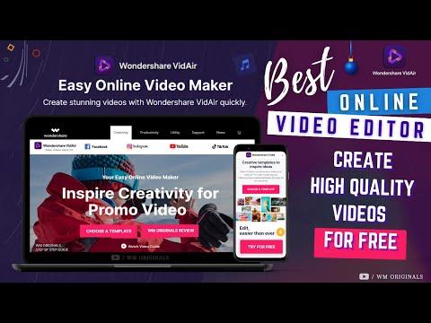 Wondershare VidAir - Free Online Video Editor   Create High Quality Professional Video Online