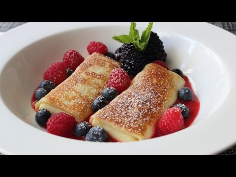Cheese Blintzes – How to Make Cheese Blintzes with Fresh Berries – Brunch Special!