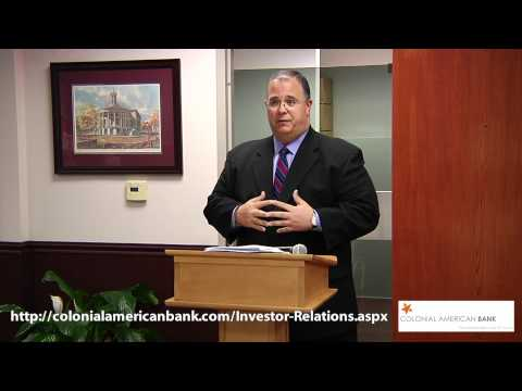 Pt 3of3 Colonial American Bank Annual Shareholder Meeting May 30 2012