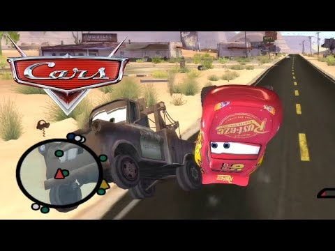 Disney Pixars Cars Movie Game - Crash Mcqueen 68 - Mater The Launch Pad