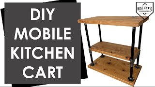 How To Build A Mobile Kitchen Cart / DIY Kitchen Island