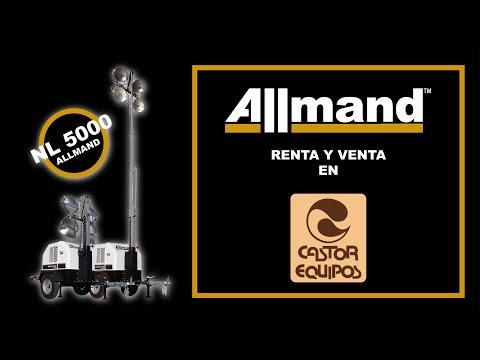 Torre Iluminación Allmand NL5000 Preparación y Operación.