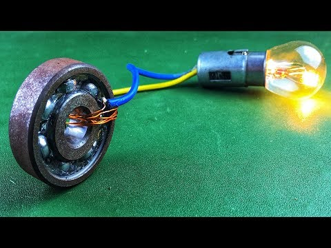 Electric 2019 Free Energy Generator 100% Self Running With DC Motor Using Wheel
