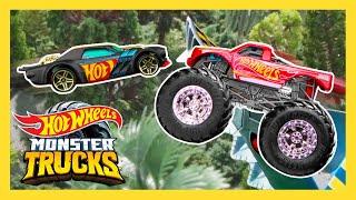 Epic Beach Loop Challenge on Monster Trucks Tournament of Titans! | Monster Trucks | Hot Wheels