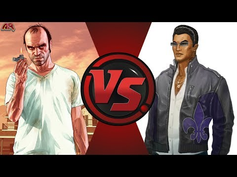 Trevor Philips vs Johnny Gat (Grand Theft Auto vs Saints Row) GTA
