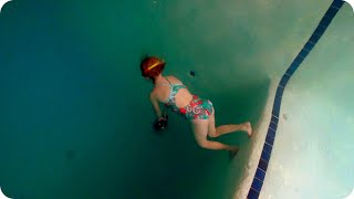 Swimming Down 18 Feet Deep First Time