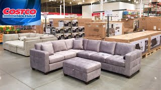 COSTCO HOME FURNITURE SOFAS COUCHES ARMCHAIRS TABLES SHOP WITH ME VIRTUAL SHOPPING STORE WALKTHROUGH