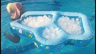 Havuzda Torba Torba Buzlarla Oyunlar, Eğlenceli çocuk Videosu