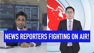 News Reporters Fighting On Air!