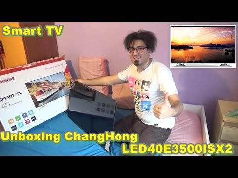 Unboxing Televisore ChangHong LED40E3500ISX2 Smart-TV Cinese