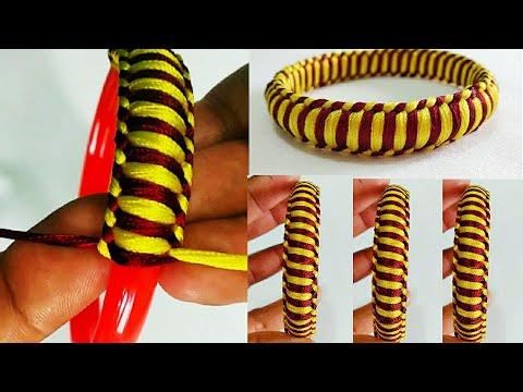 Latest Silk Thread Bangles | How To Make Silk Thread Bangles At Home | Handmade Bangles | DIY Bangle