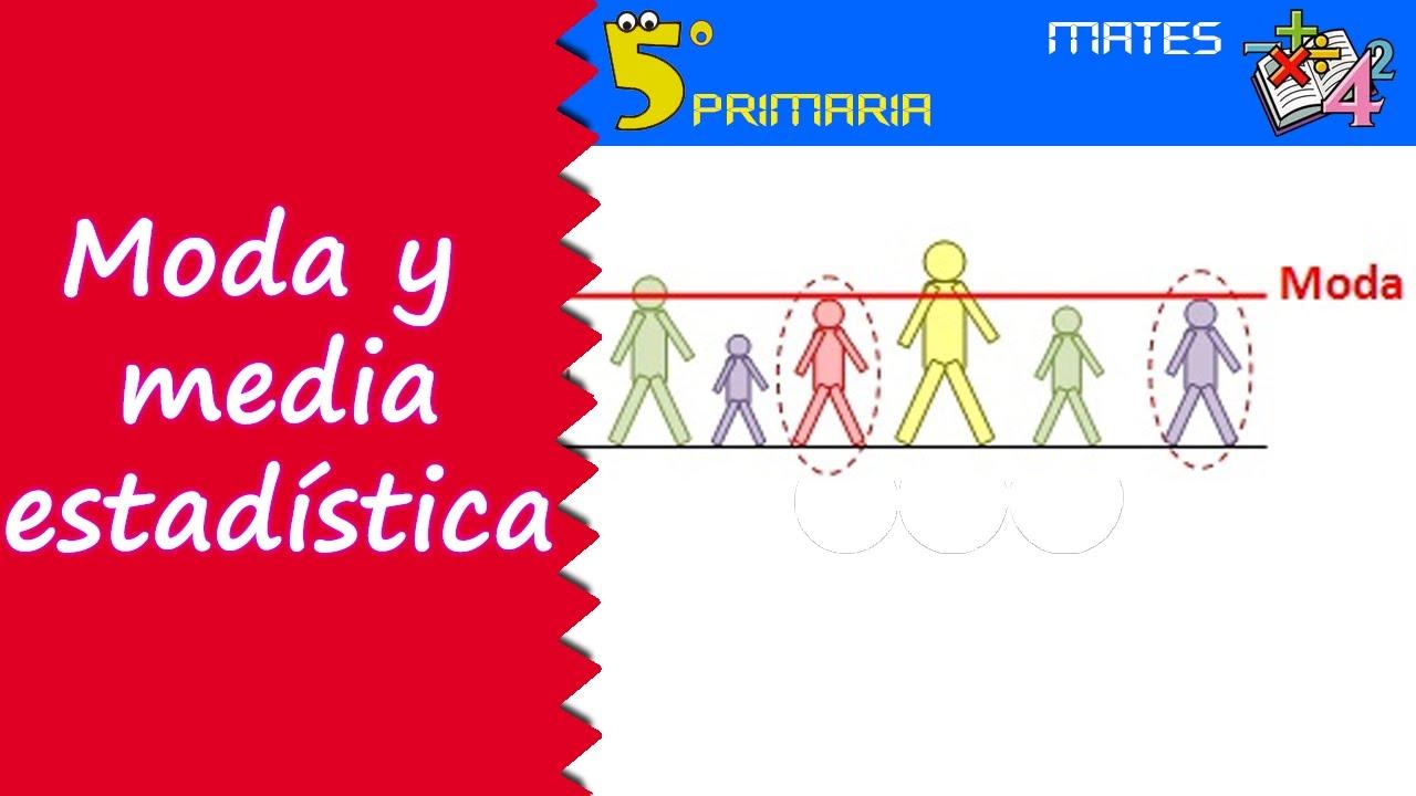 Moda y media estadística. Mate, 5º Primaria. Tema 10