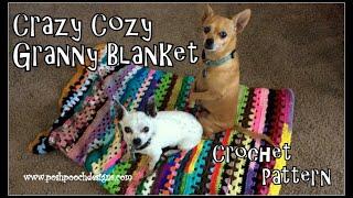 Crazy Cozy Granny Blanket Crochet Pattern   #crochet #crochetvid