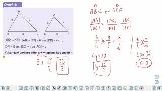 Eğitim Vadisi 9.Sınıf Matematik 25.Föy Üçgenlerde Eşlik ve Benzerlik Konu Anlatım Videoları