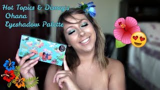 Hot Topic & Disneys Ohana Eyeshadow Palette Swatches, Tutorial AND REVIEW