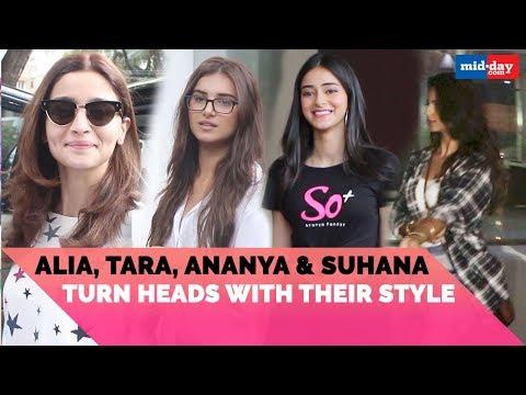 Alia Bhatt, Tara Sutaria, Ananya Pandey and Suhana Khan turn heads with their style