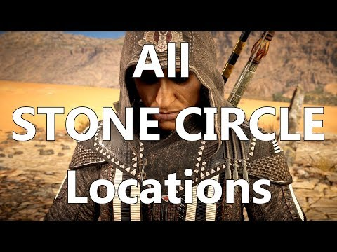 all 12 stone circle locations super easy bayek s promise ass