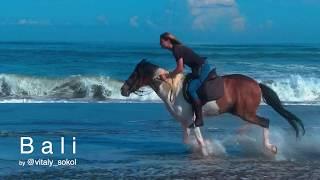 Bali. Kedungu. Horseriding. FPV Drone