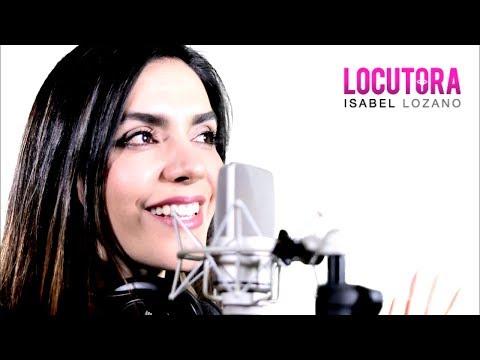 ¡Hola! Soy Isabel Lozano, esto es algo de mi trabajo como locutora comercial.  Conoce más de mi trabajo en https://locutora.org/ Desde hace más de 13 años formo parte del mundo de la locución comercial, y tengo la dicha de dedicarme a lo que más me apasiona :D Ponte en contacto:  Correo: info@locutora.org  --------- Hello! I'm Isabel Lozano, this is something from my job as a Professional Voice Over talent. Comment, share, and any  suggestions are welcome. Hear some more about my work at https://locutora.org/  For over 13 years I have been part of the voice over world, and I am grateful to work in what I love the most: D Get in touch: Email: info@locutora.org