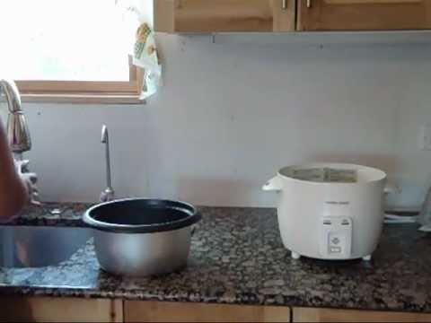 Como cocinar arroz blanco en Arrocera