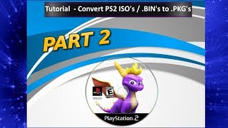 How To: Convert PS2 Games ISO To PKG For PS3 Super Slim