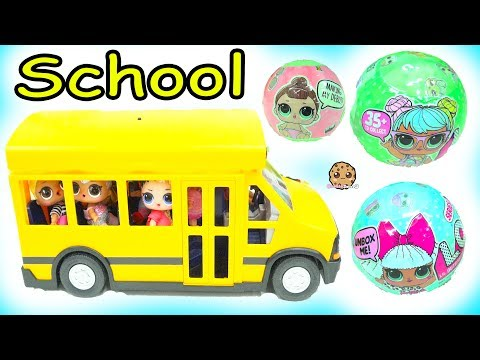 LOL Surprise Ride Bus + Go To School -  Lil Sisters Baby Dolls Blind Bag