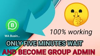 Become Admin of Any whatsapp Group without Admin permission // how to become admin for any whatsapp