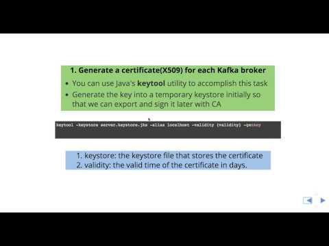 Creating Apache Kafka SSL Certificates Part 1 - YouTube