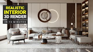 How To Create a REALISTIC Interior Render in just 15 minutes - Lumion Rendering Tutorial. 3d Render
