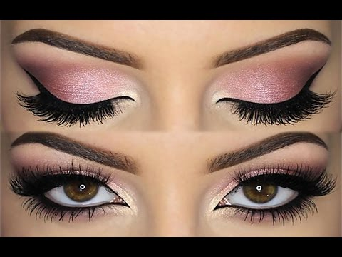Beautiful Pink With Brown Smokey Eye Shadow Looks By Brenda Valdez Musely