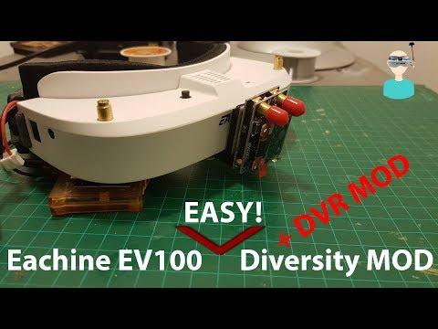 Eachine EV100 Easy Diversity (And DVR) MOD
