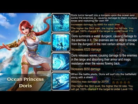 Heroes Charge : Ocean Princess from Test Server : Review (Doris)