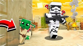 HIDING AS BABY YODA IN MINECRAFT! *NEVER FOUND*