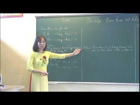 Môn Tiếng Việt - Tìm hai số khi biết tổng và hiệu của hai số đó - Gv Nguyễn Thị Ngọc Huyền - Trường TH Bình Thuận.