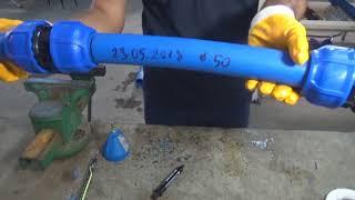 Correcta instalacion y prueba de presión de un Enlace Recto 50x50 POELSAN
