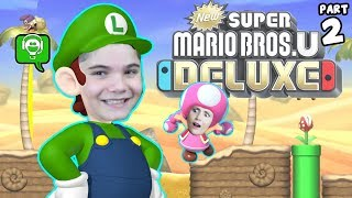 New Super Mario Bros U Deluxe Part 2 with HobbyFamilyGaming