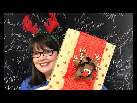 Rudolf Gift Bow Easy and Fun!