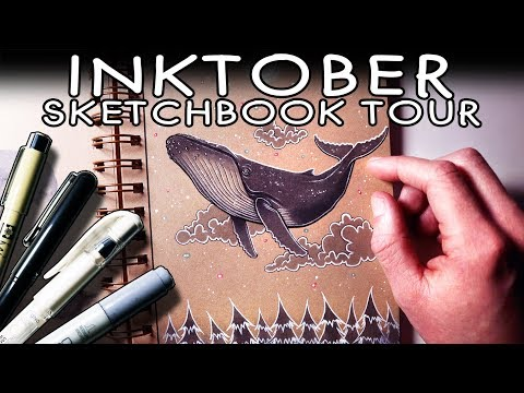 INKTOBER SKETCHBOOK TOUR 2018