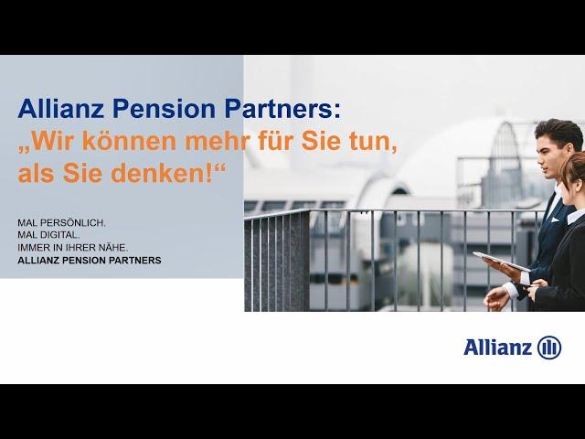 Allianz Pension Partners - Vorstellung Konzeption und Consulting