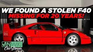 I found a stolen Ferrari F40 in Japan | VinWiki