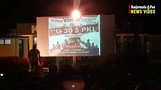 Antusiasme Nonton Bareng Film G30S PKI di Kodim 1009 Pelaihari