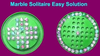 """How To Solve A Marble Solitaire """"Marbles Game""""  Easy Solution 