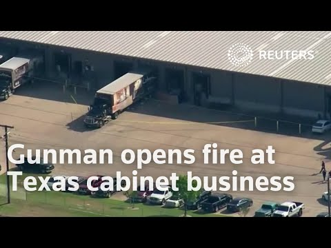 Gunman opens fire at Texas cabinet business