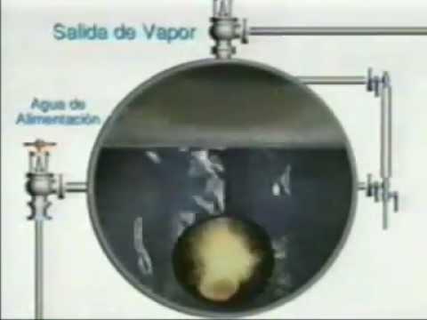 CALDERA - INTERIOR DE UNA CALDERA EN OPERACION
