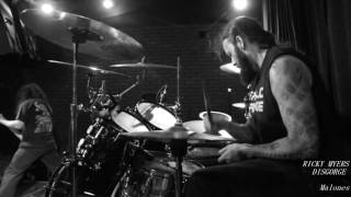 Disgorge - RICKY MYERS Drum cam - live 7/02/2016