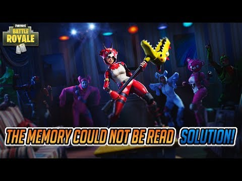 """FIX Fortnite Error """"The Memory Could Not Be Read"""""""